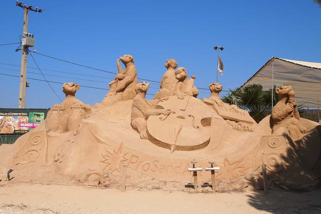 Sandskulpturen in Pera - Algarve