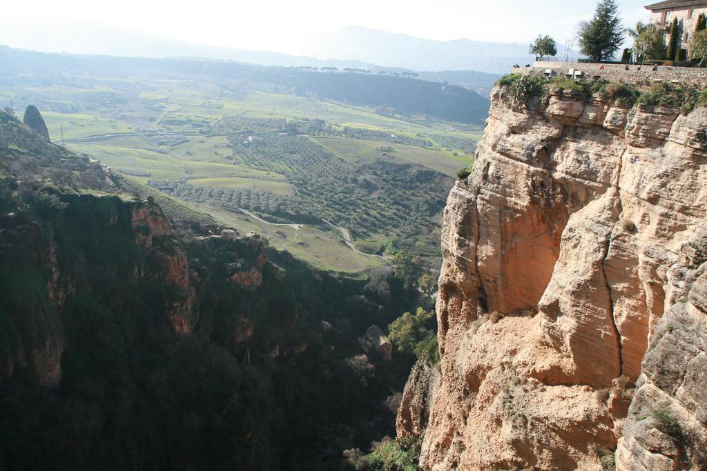Blick von Ronda auf Andalusien