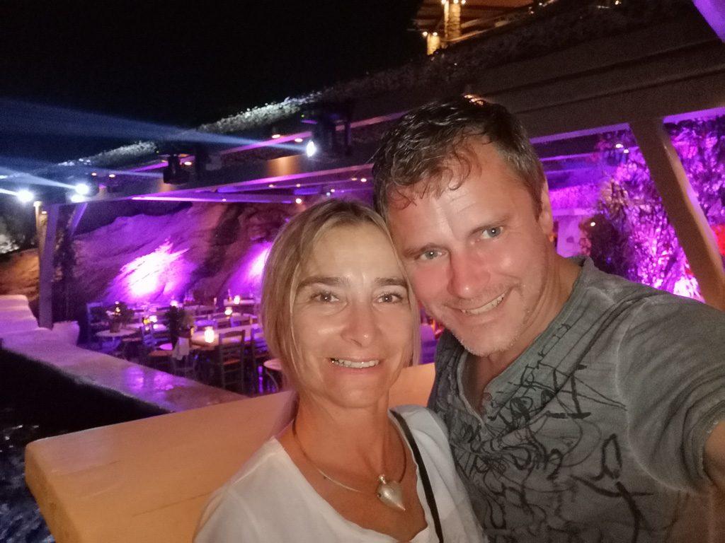 Daniela und Thomas im Spilia - Mykonos