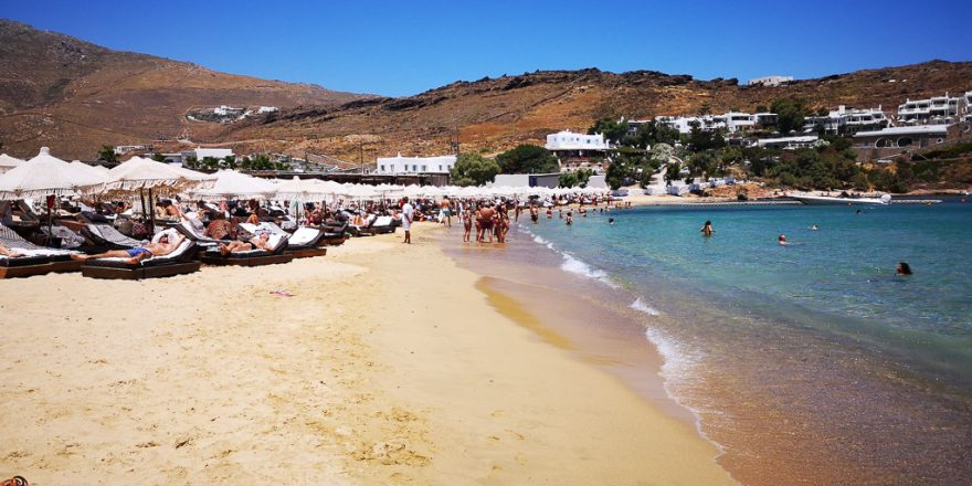 Strand Kalo Livadi auf Mykonos