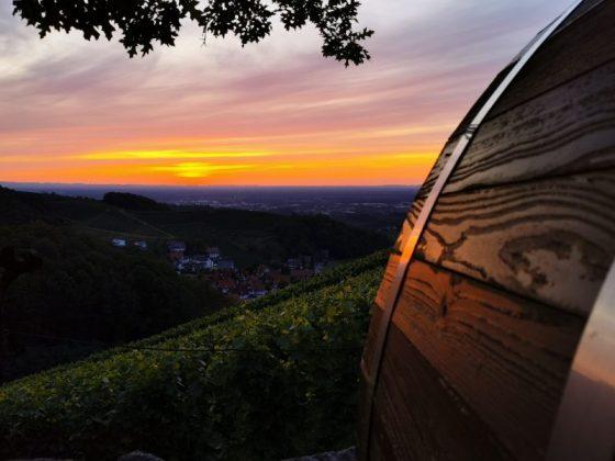 Sonnenuntergang über Sasbachwalden im Schwarzwald