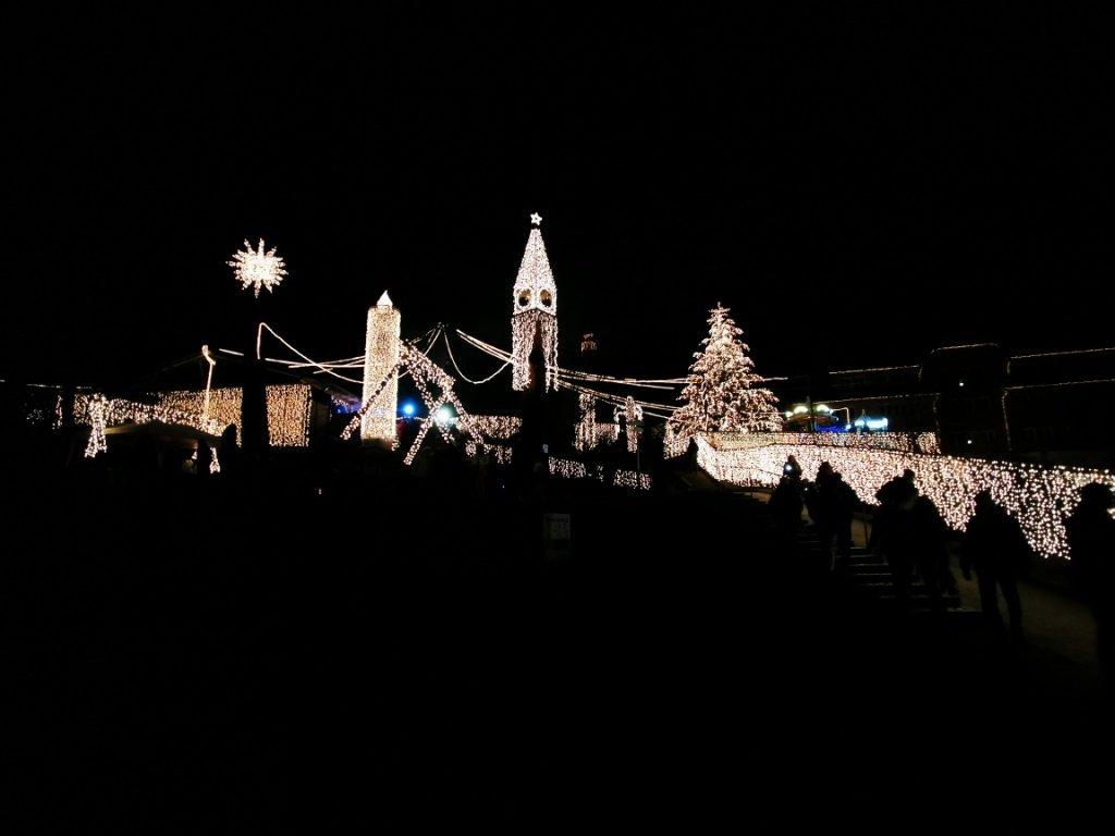 Lichterdeko beim Triberger Weihnachtszauber