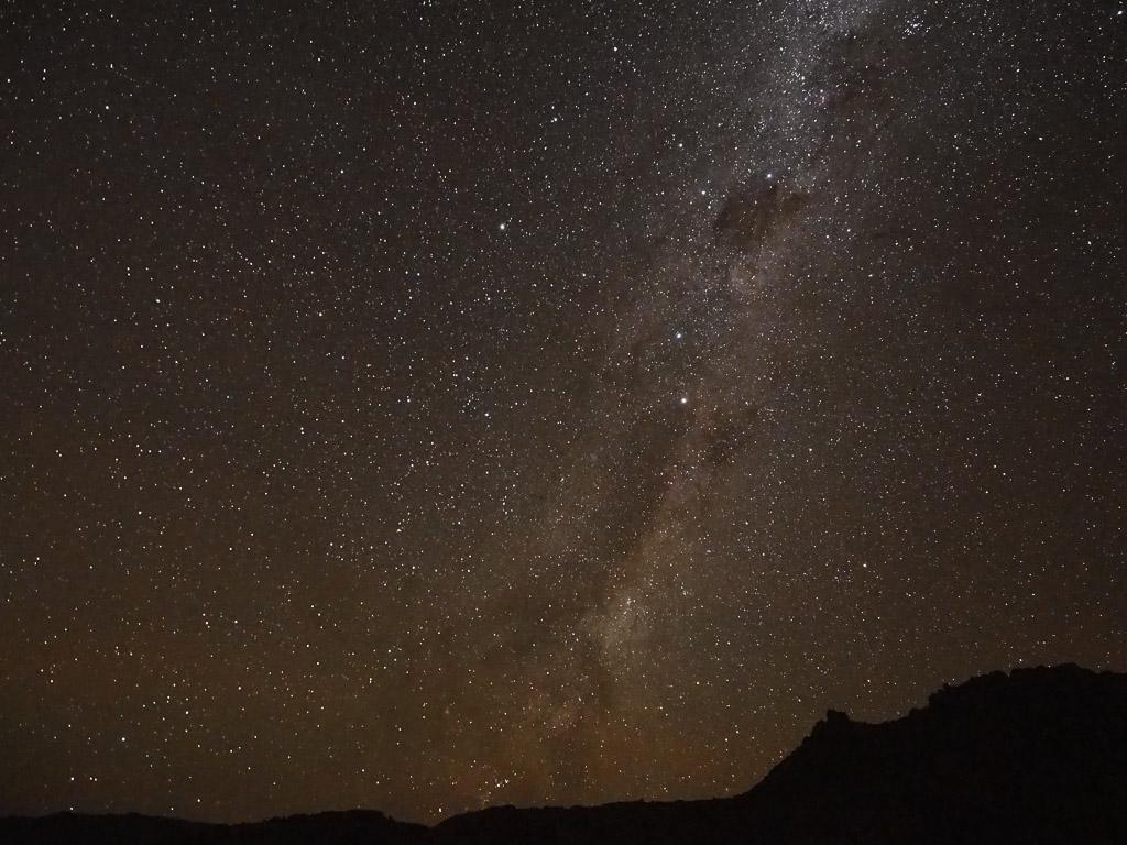 Milchstrasse im Tirasgebirge von Namibia