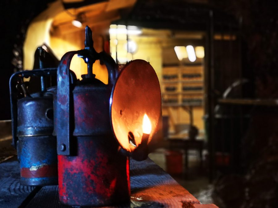 Öllampe in der Eisriesenwelt - Österreich