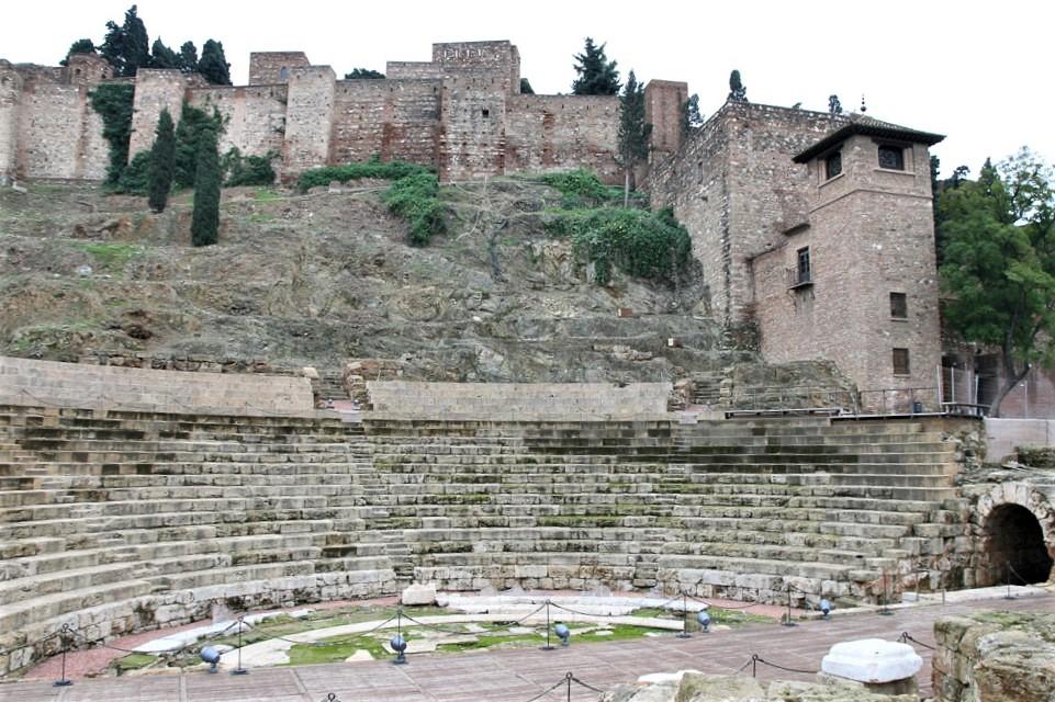 Das römische Theater in Malaga