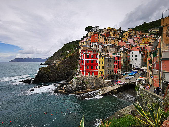 Der Ort Riomaggiore in Cinque Terre - Toskana