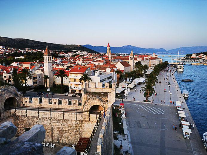 Blick von der Burg Trogir - Kroatien