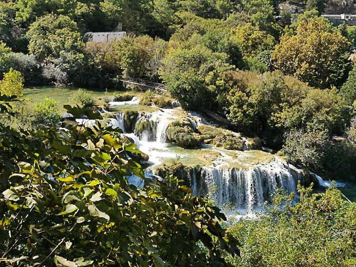 Die Krka Wasserfälle in Kroatien