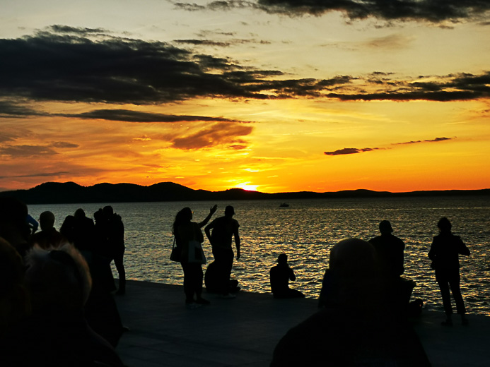 Sonnanuntergang in Zadar