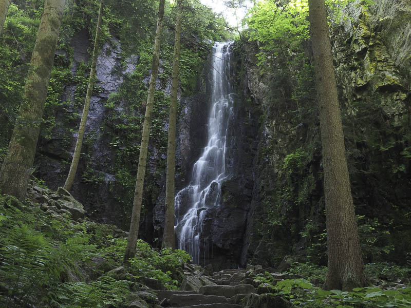 Burgbachwasserfall in Bad Rippoldsau-Schapbach im Schwarzwald